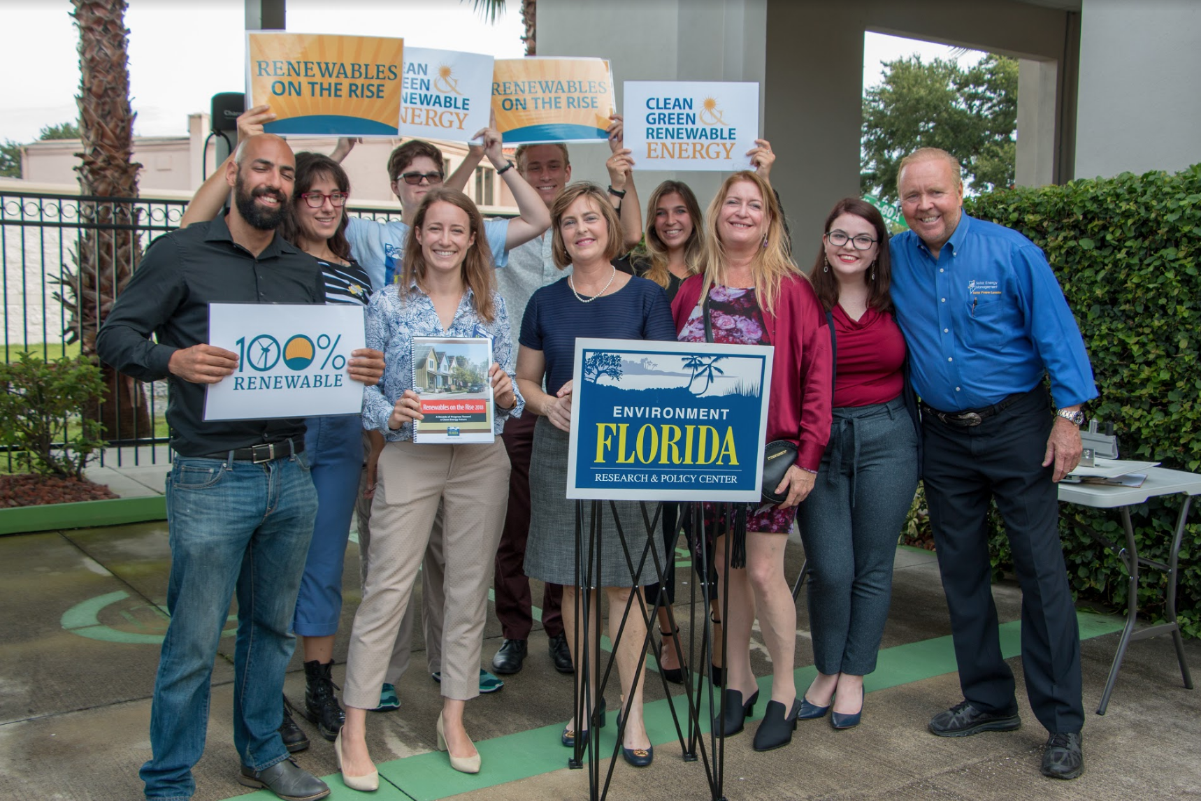 Environment Florida staff and supporters campaigning for renewable energy in the Sunshine State.